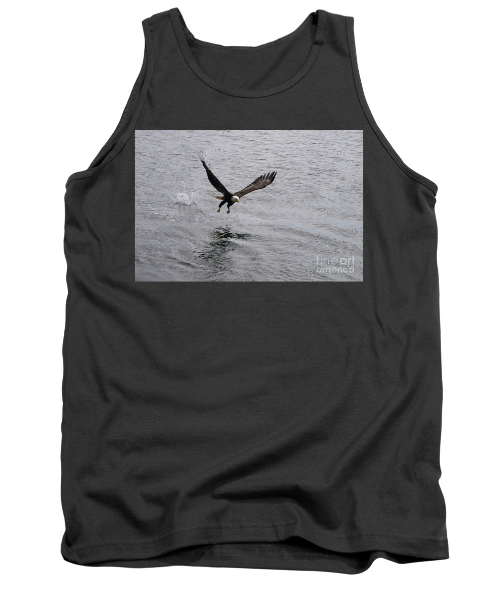 Eagle Tank Top featuring the photograph Dinner? Prince Rupert Eagle by Louise Magno