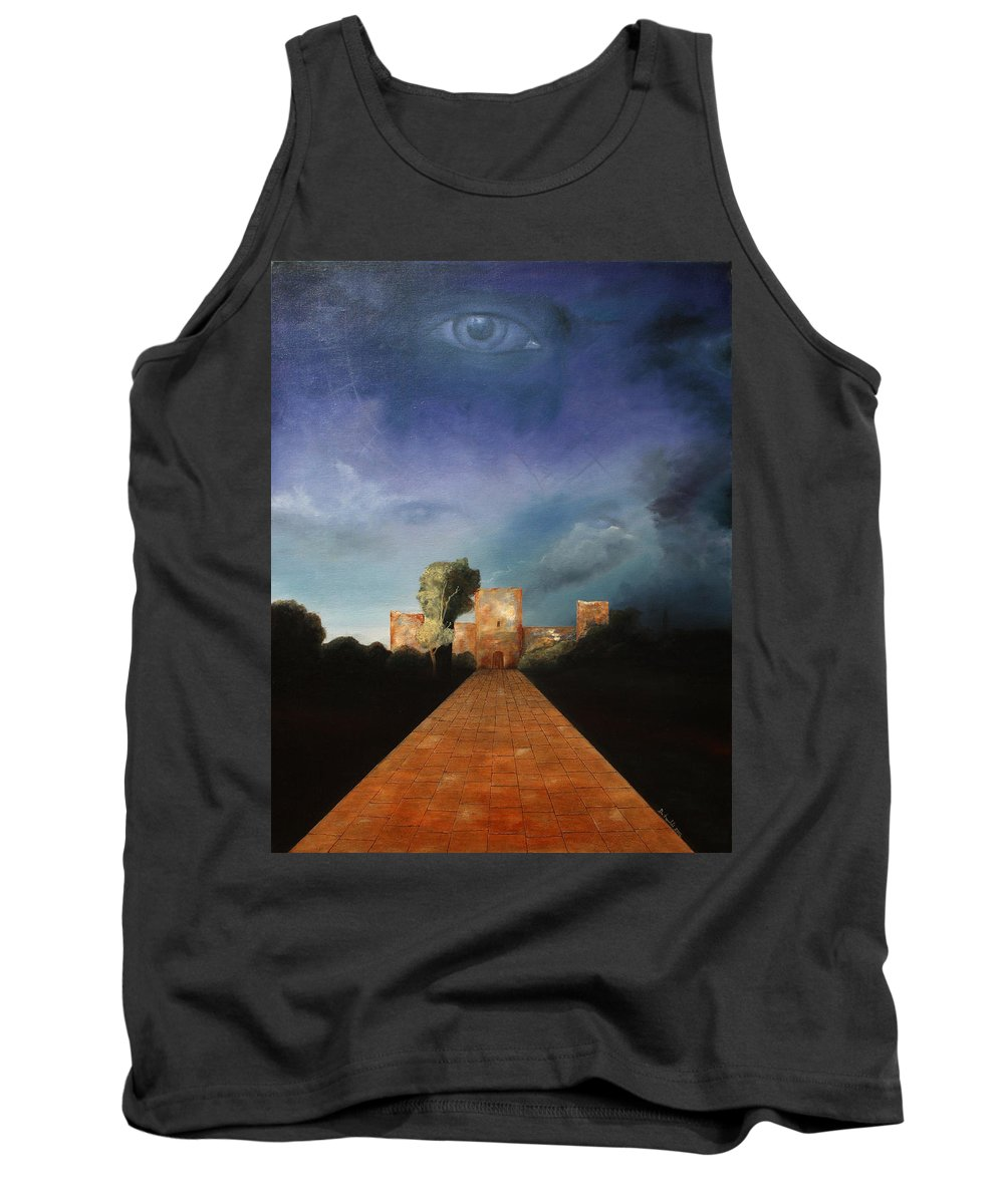 Disclosure Of The Hidden Tank Top featuring the painting Disclosure Of The Hidden by Darko Topalski