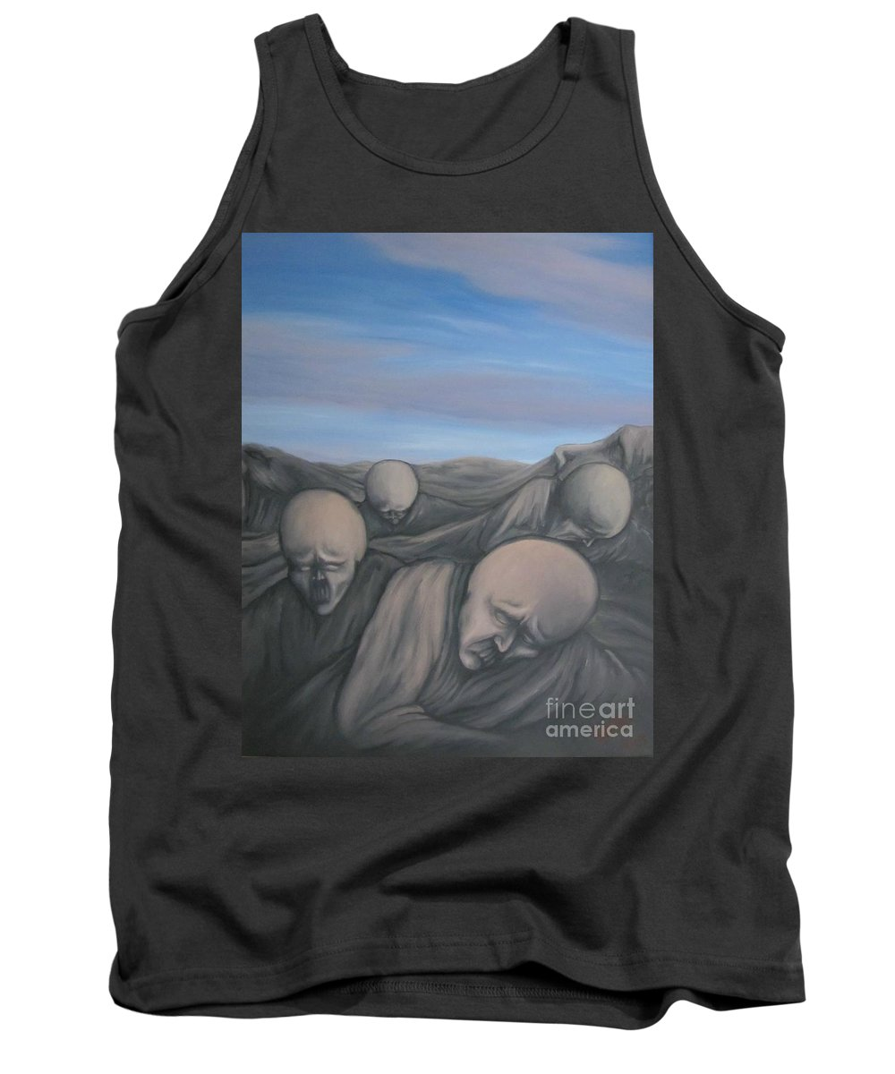 Tmad Tank Top featuring the painting Dismay by Michael TMAD Finney
