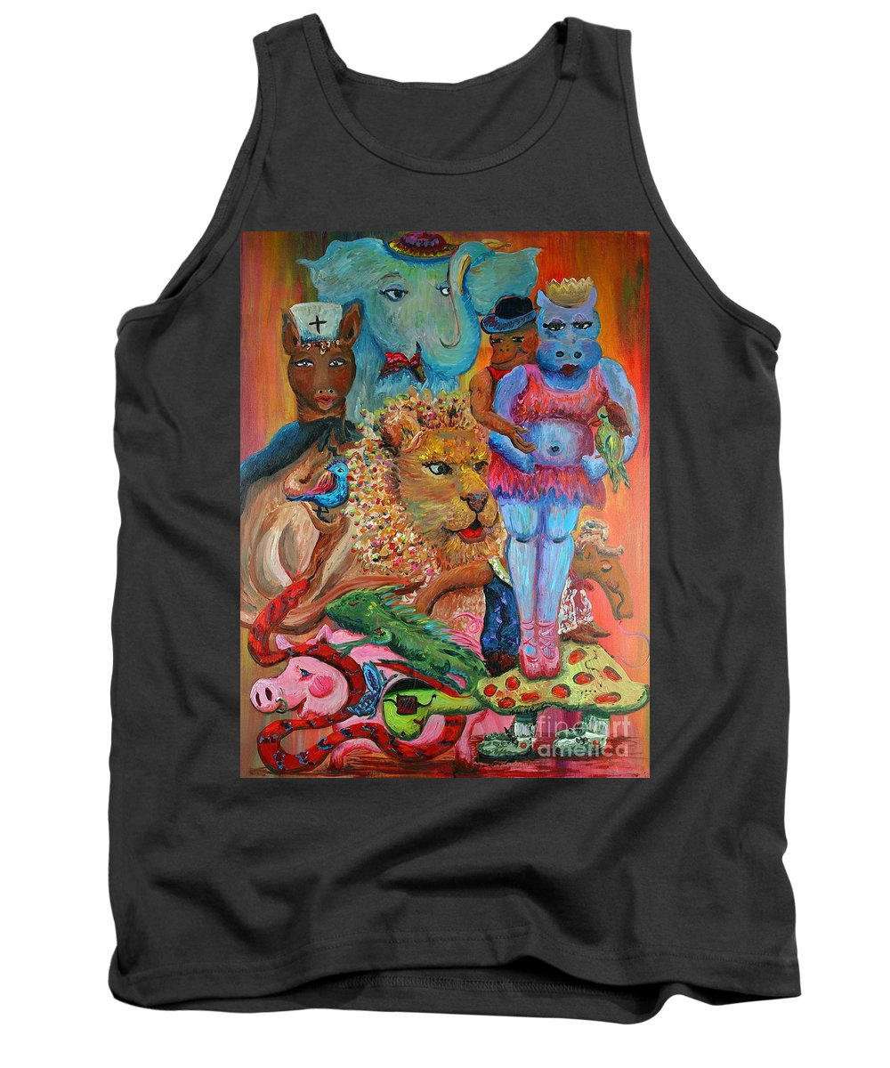 Diversity Tank Top featuring the painting Diversity by Nadine Rippelmeyer