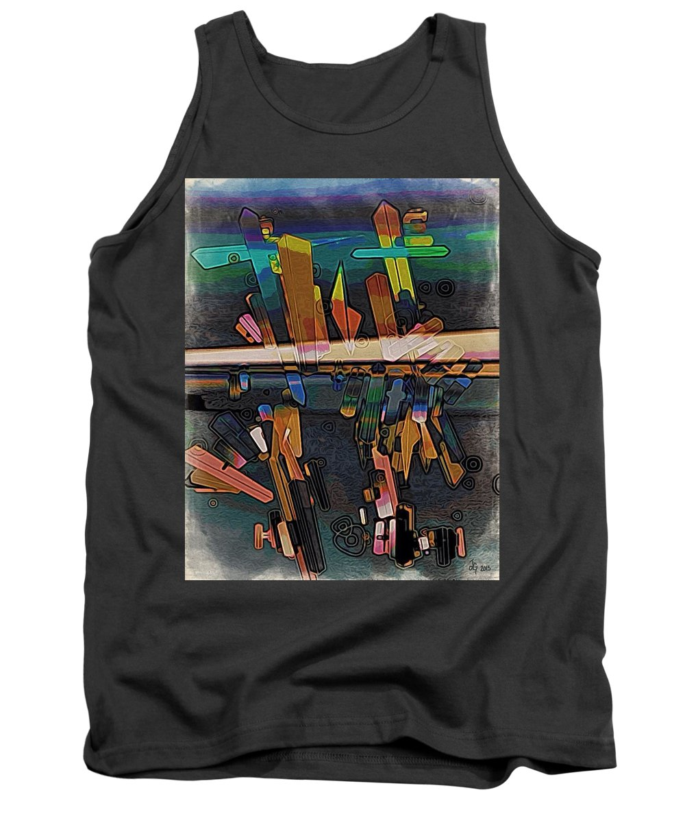Drawing Tank Top featuring the digital art Divide by Johanna G