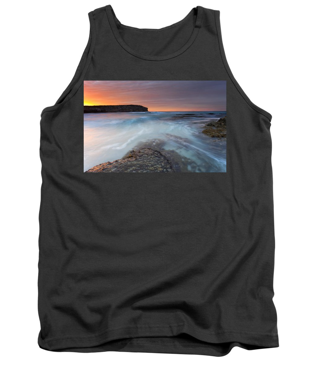 Dawn Tank Top featuring the photograph Divided Tides by Mike Dawson