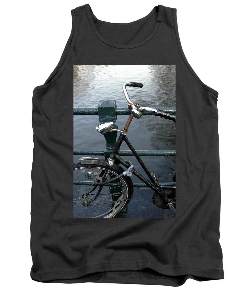 Landscape Amsterdam Red Light District Bicycle Tank Top featuring the photograph Dnrh1104 by Henry Butz