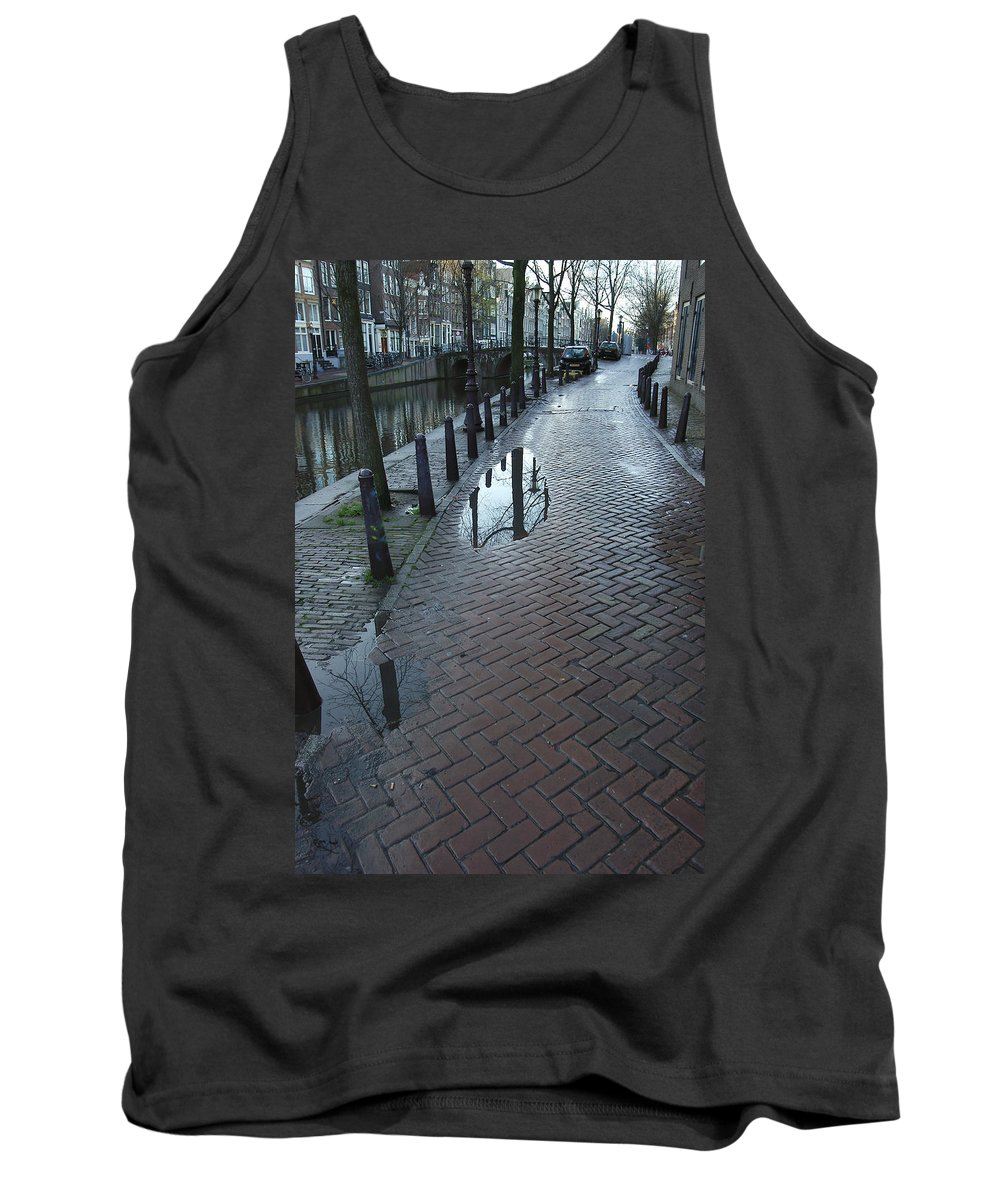 Landscape Amsterdam Red Light District Tank Top featuring the photograph Dnrh1109 by Henry Butz