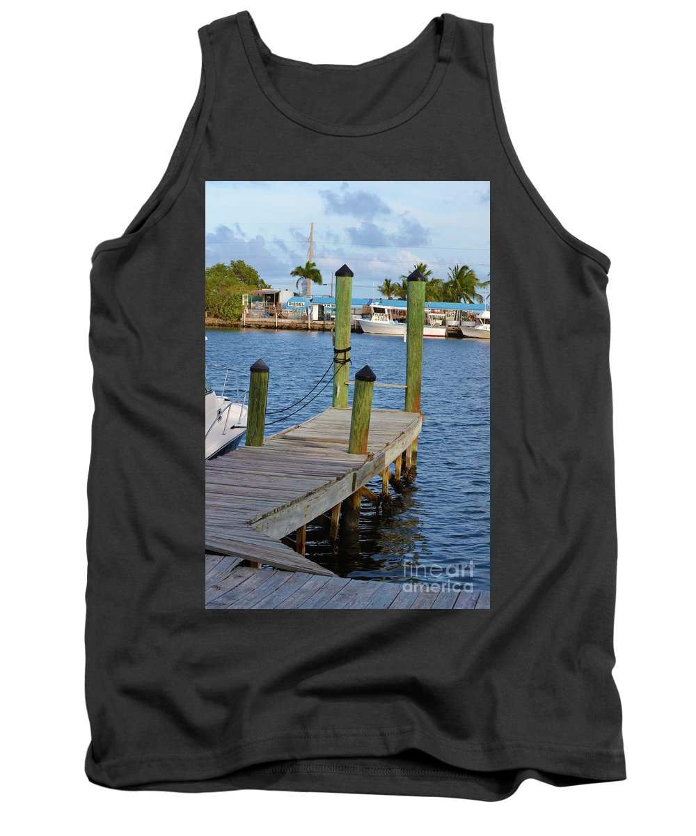 Florida Tank Top featuring the photograph Dock In The Keys by Kylee S