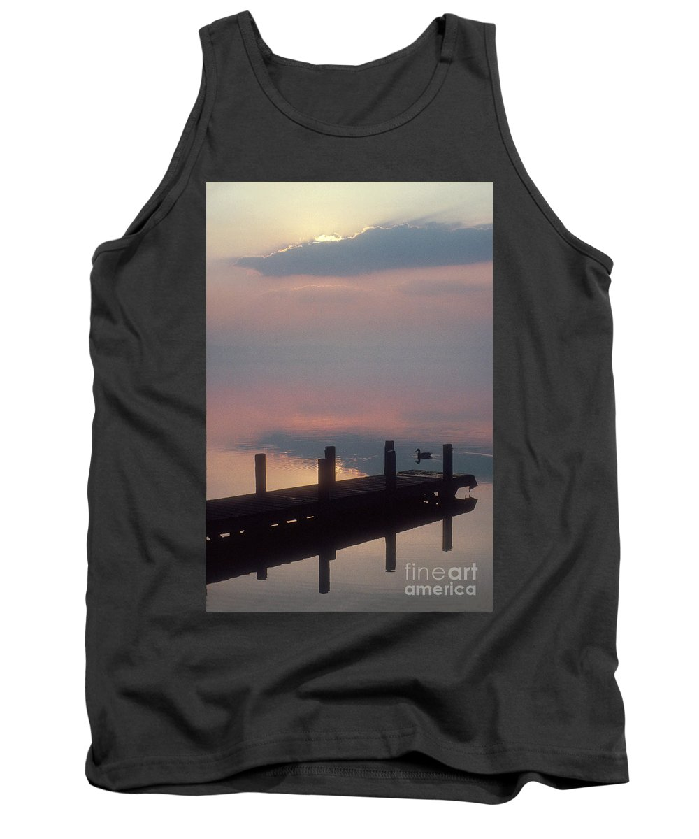 Dock Tank Top featuring the photograph Dock by Ray Manning