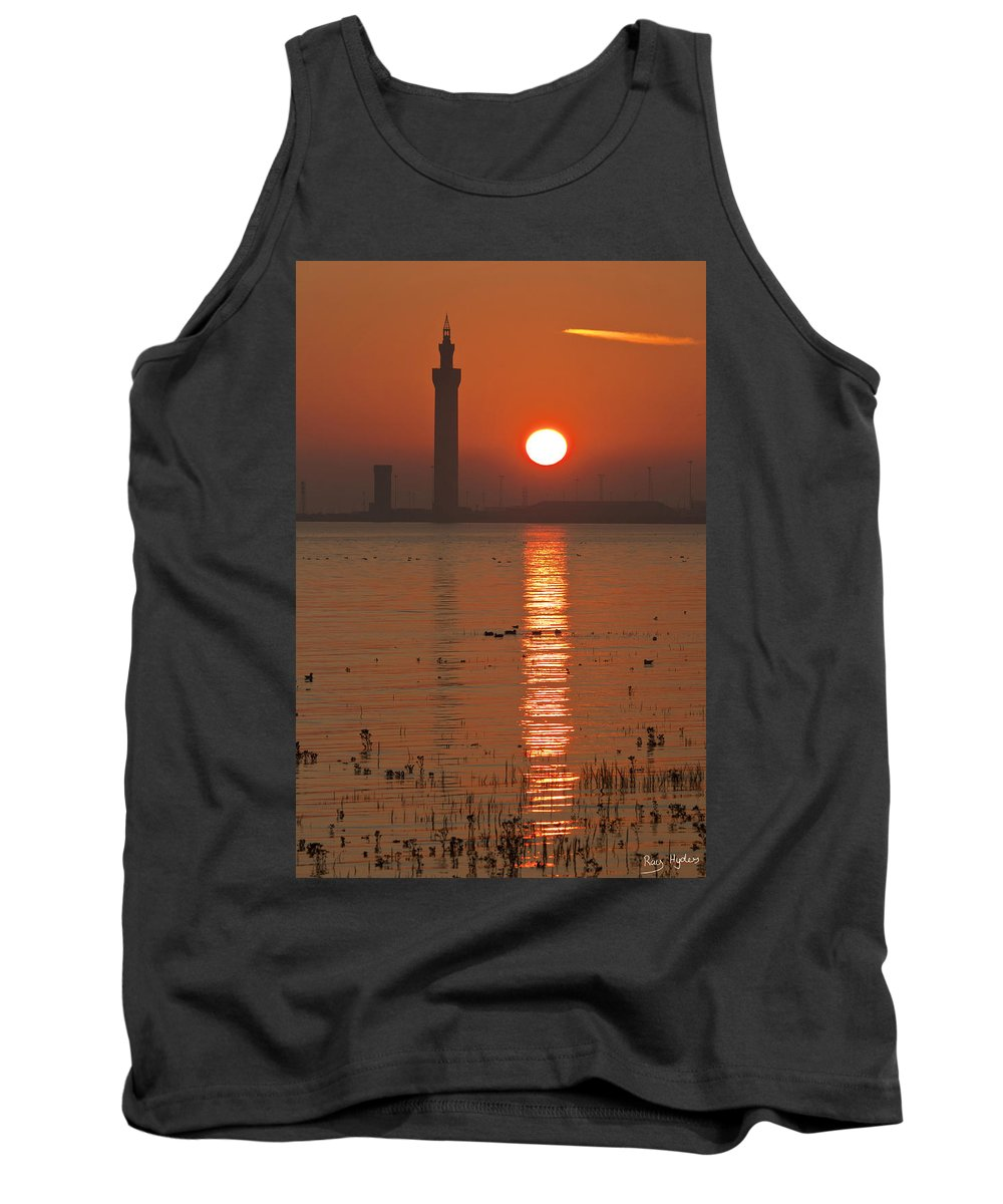 Grimsby Tank Top featuring the photograph Dock Tower Sunrise by Ray Hydes