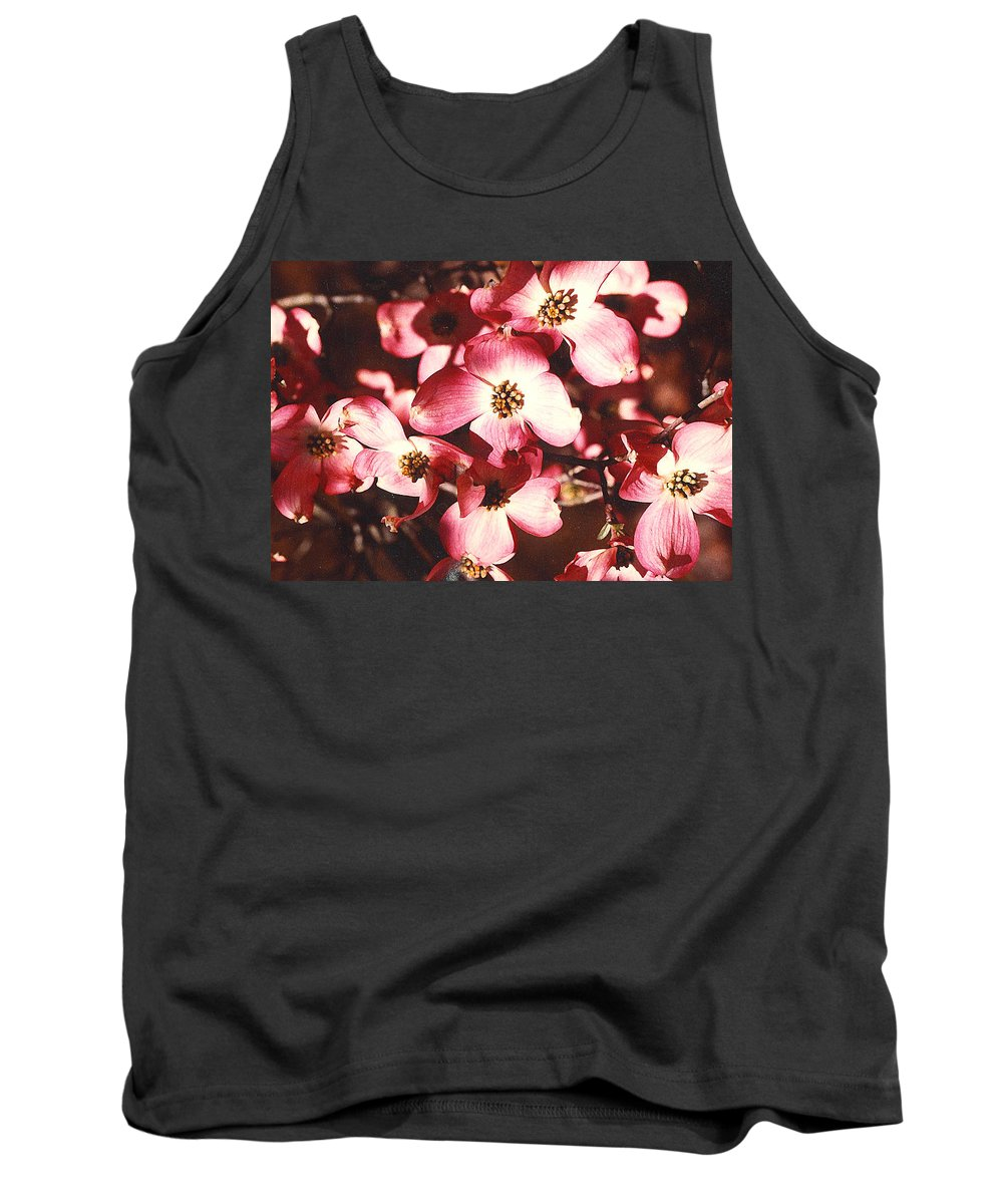 Dogwood Tank Top featuring the photograph Dogwood Harmony by Nancy Mueller