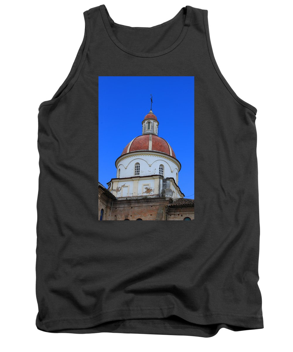 Church Tank Top featuring the photograph Dome On A Church by Robert Hamm