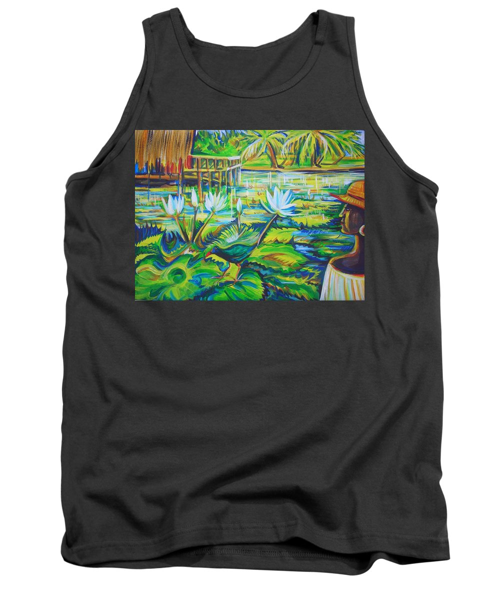 Tropics Tank Top featuring the painting Dominicana by Anna Duyunova