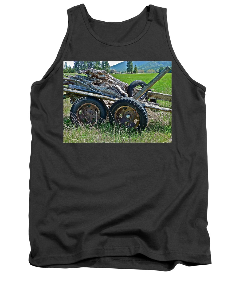 Antique Tank Top featuring the photograph Done Working by Diana Hatcher