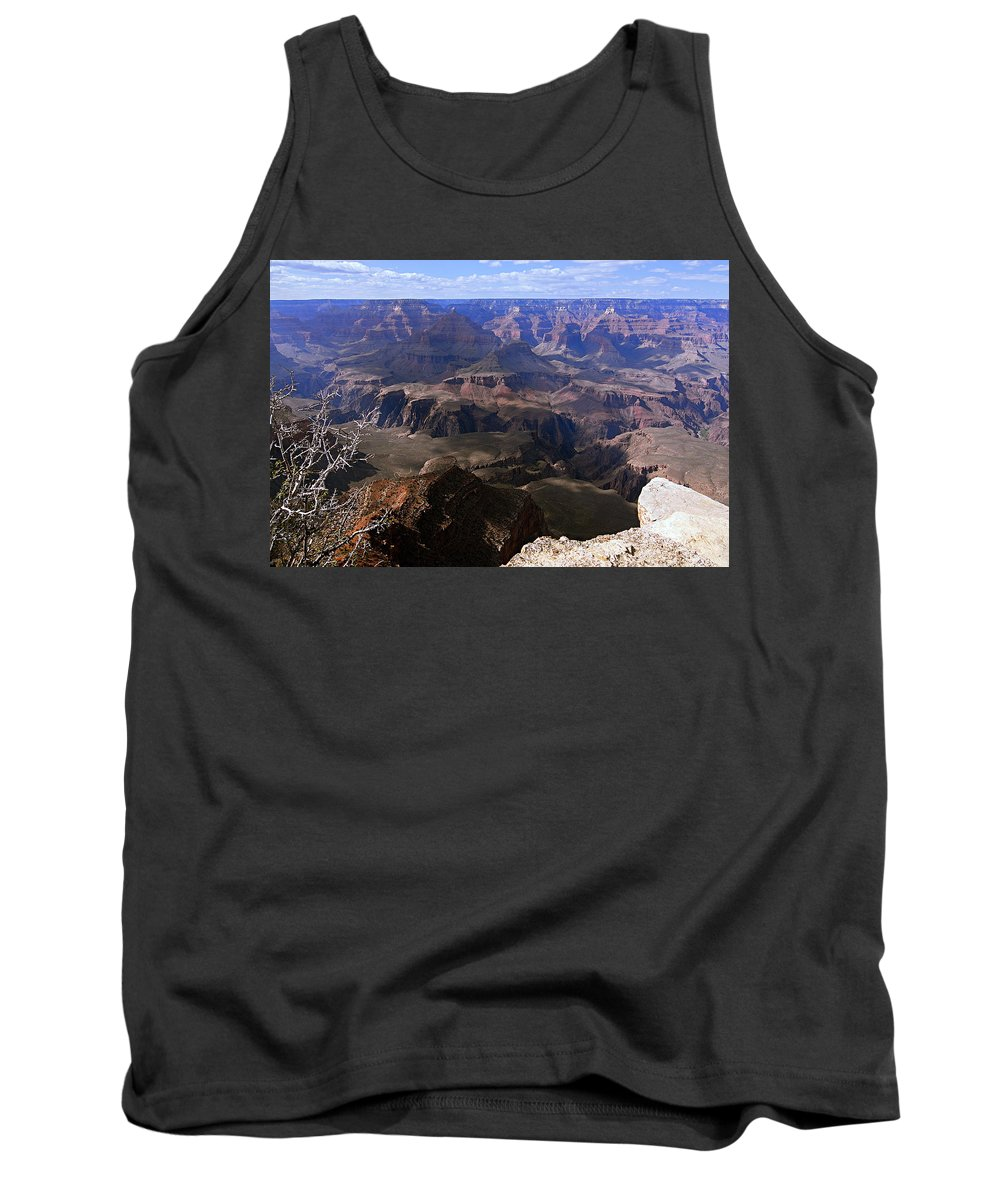 Grand Canyon National Park Tank Top featuring the photograph Don't Get Too Close To The Edge by Larry Ricker
