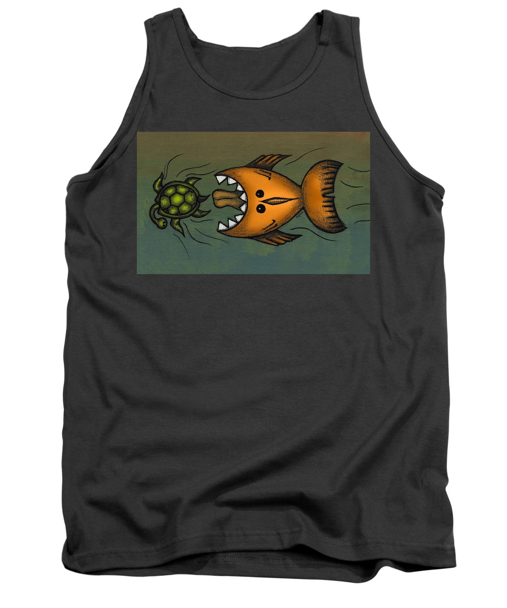 Fish Tank Top featuring the digital art Don't Look Back by Kelly Jade King
