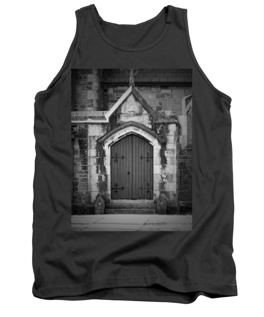 Irish Tank Top featuring the photograph Door At St. Johns In Tralee Ireland by Teresa Mucha
