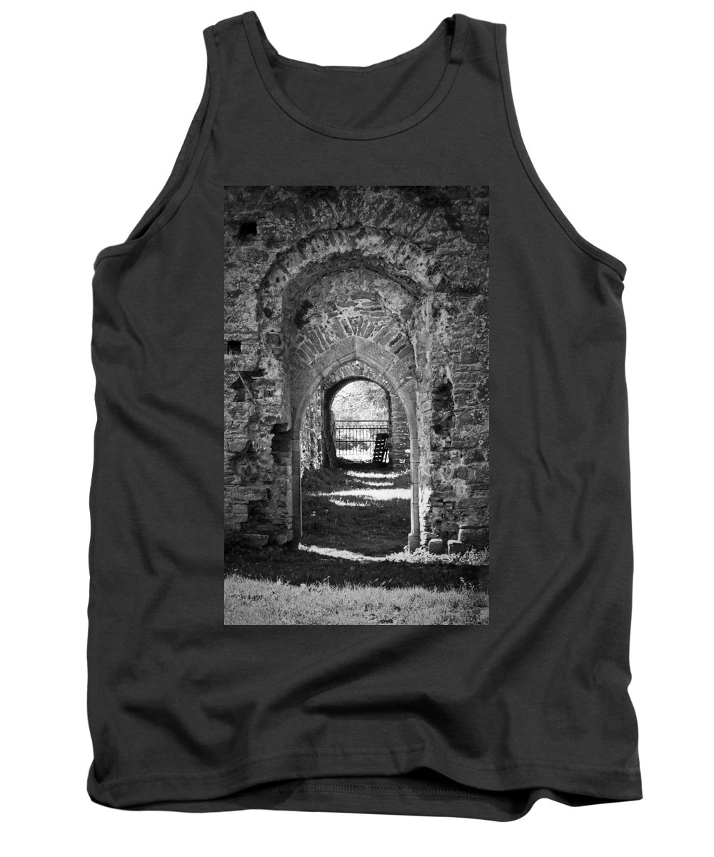Irish Tank Top featuring the photograph Doors at Ballybeg Priory in Buttevant Ireland by Teresa Mucha