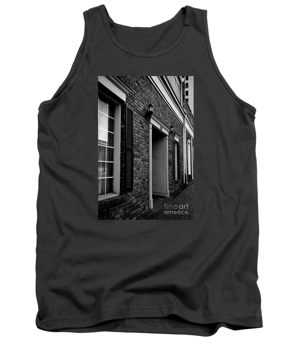 Nashville Tank Top featuring the photograph Doorway Black And White by Marina McLain