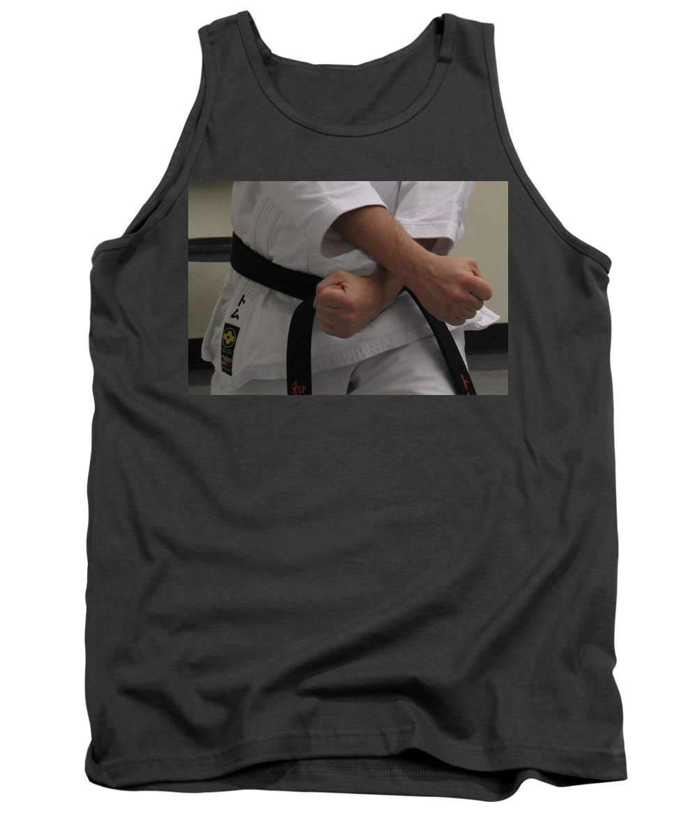Karate Tank Top featuring the photograph Double Fisted by Kelly Mezzapelle