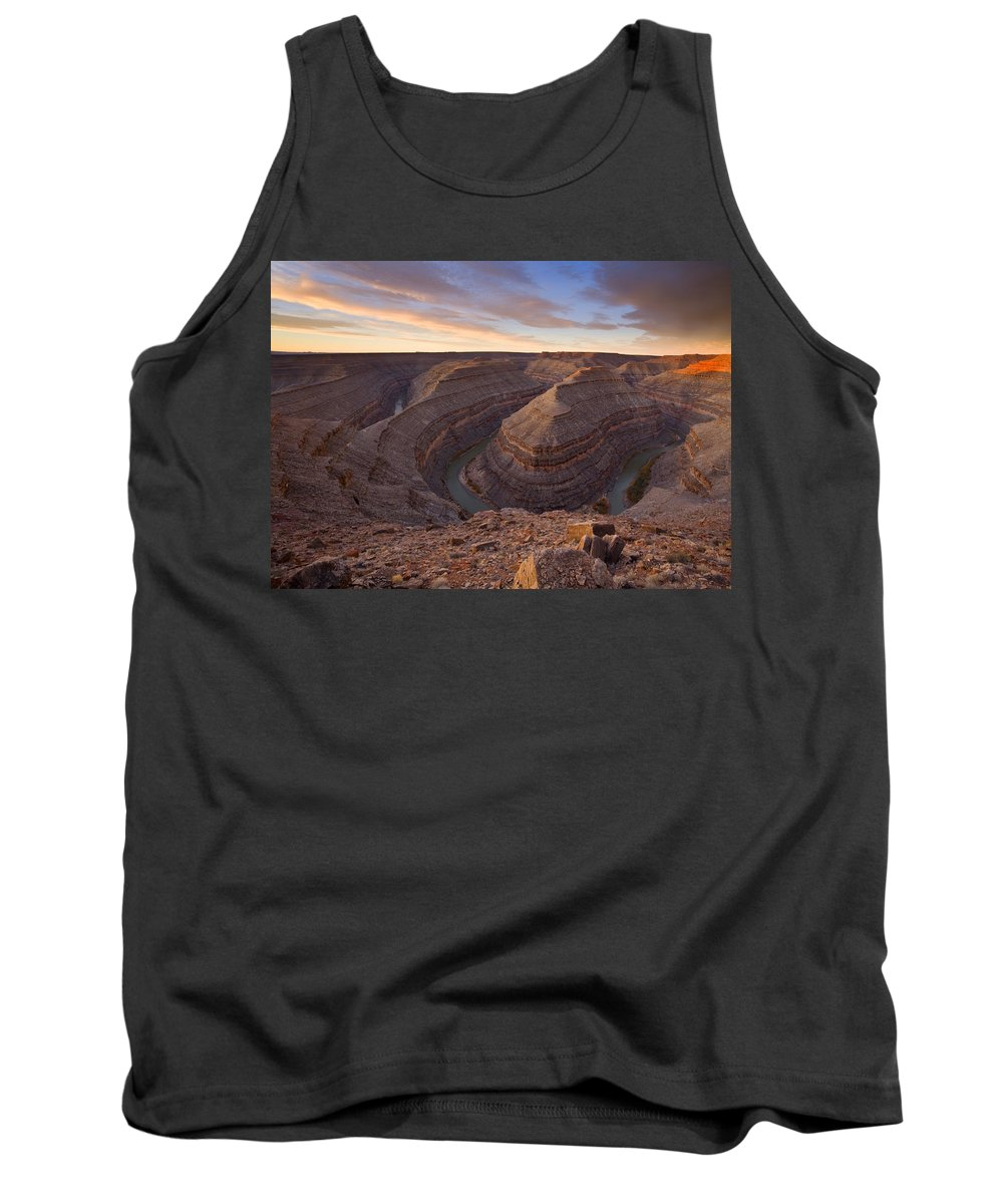 Goosenecks State Park Tank Top featuring the photograph Doubleback by Mike Dawson