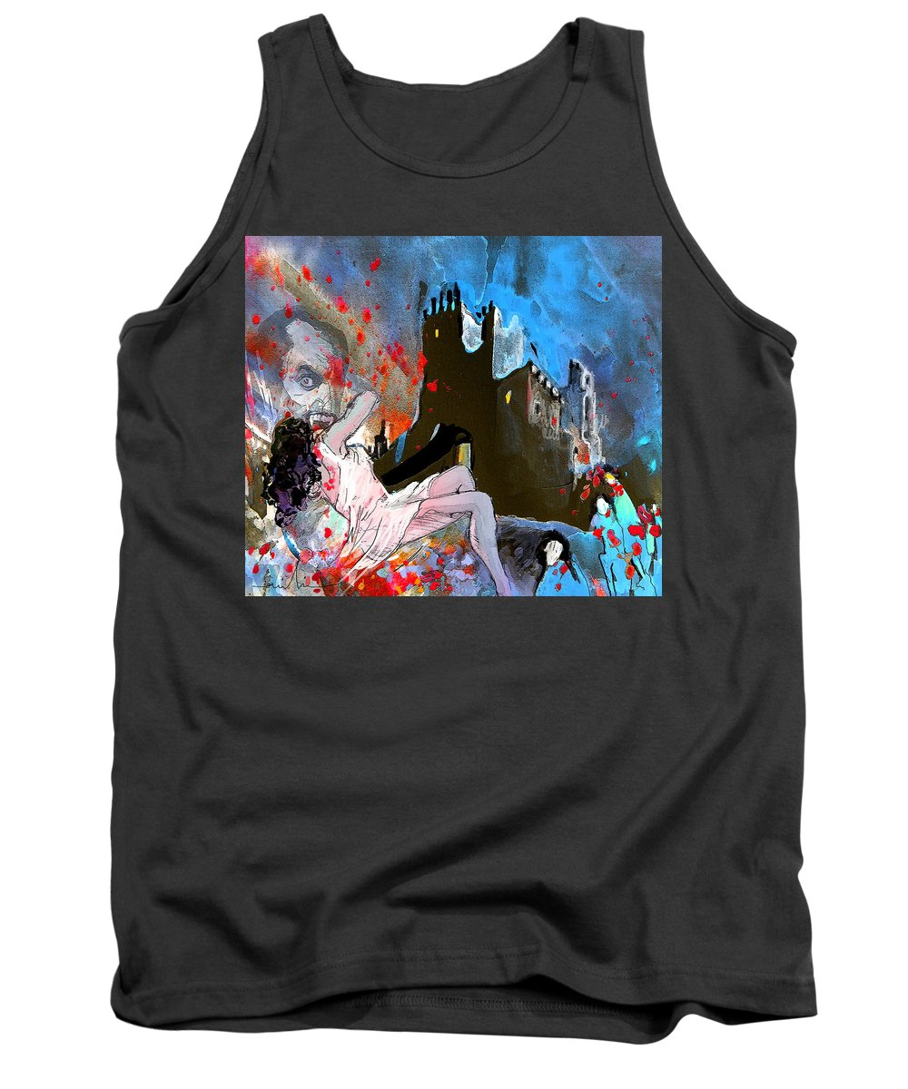 Dracula Tank Top featuring the painting Dracula by Miki De Goodaboom