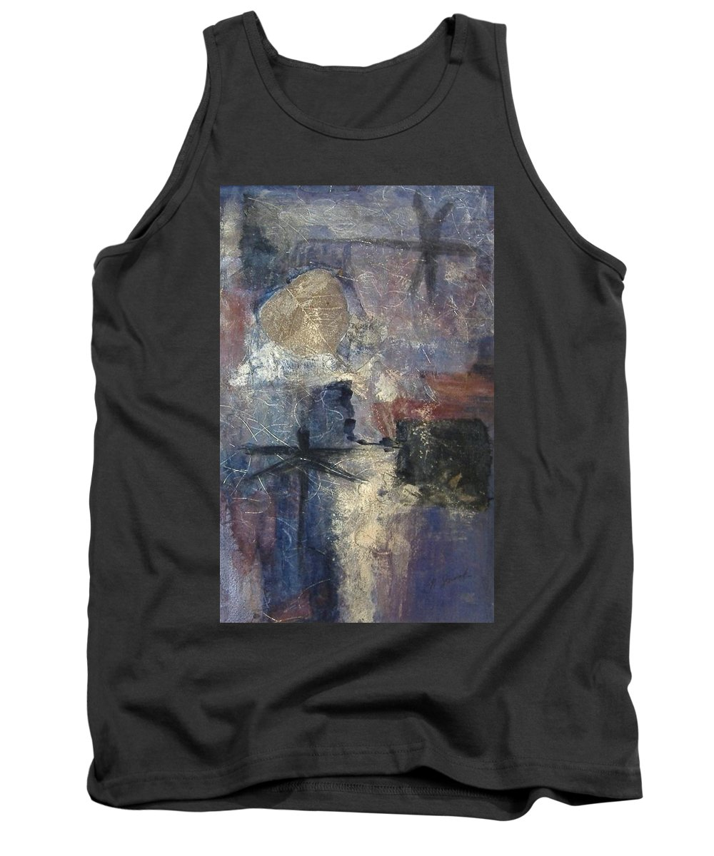 Collage Tank Top featuring the mixed media Dragonflies by Pat Snook
