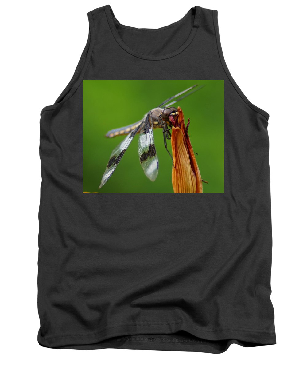 Spokane Tank Top featuring the photograph Dragonfly by Ben Upham III
