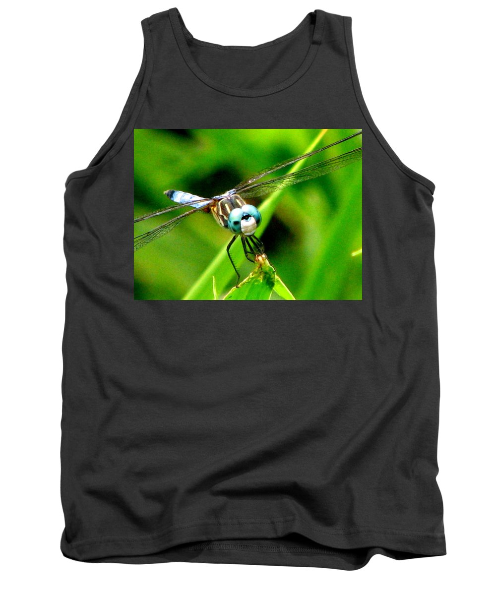 Dragonfly Tank Top featuring the photograph Dragonfly Close Up 2 by J M Farris Photography