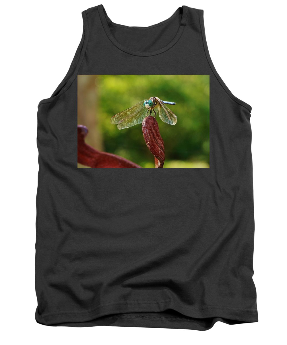 Dragonfly Tank Top featuring the photograph Dragonfly Resting II by Beth Deitrick