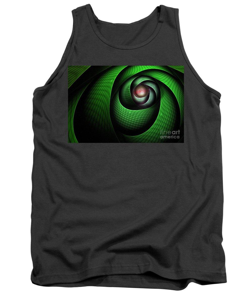 Dragon Tank Top featuring the digital art Dragons Eye by John Edwards