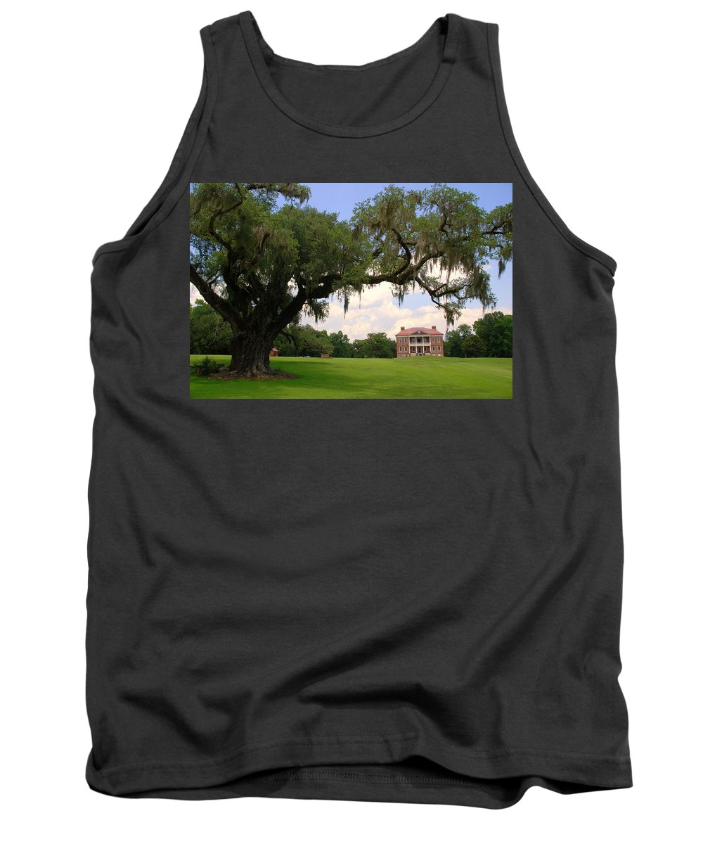 Photography Tank Top featuring the photograph Drayton Hall Plantation Charleston by Susanne Van Hulst