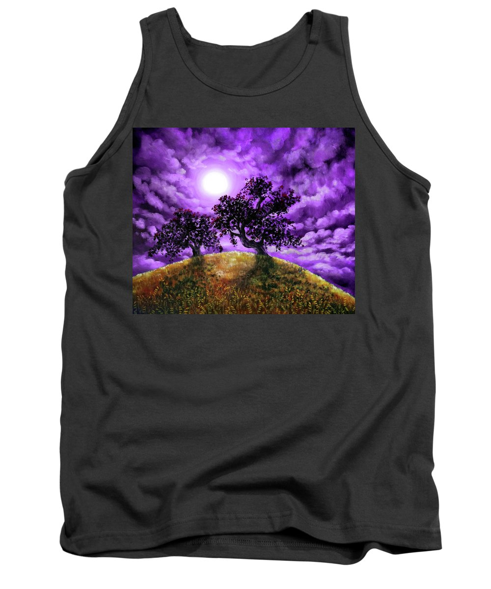 Landscape Tank Top featuring the painting Dreaming Of Oak Trees by Laura Iverson