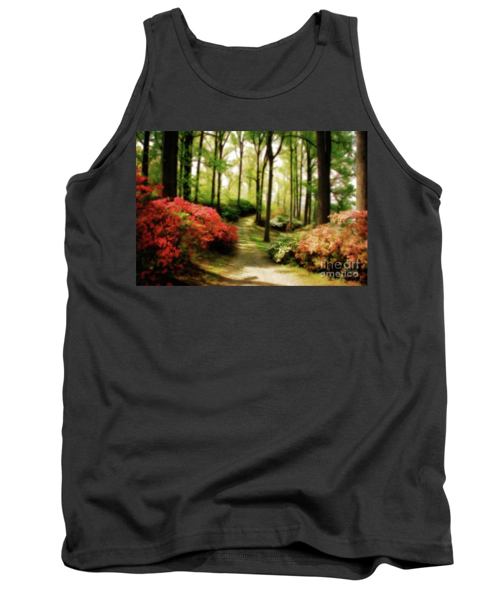 Landscape Tank Top featuring the photograph Dreamy Path by Lois Bryan