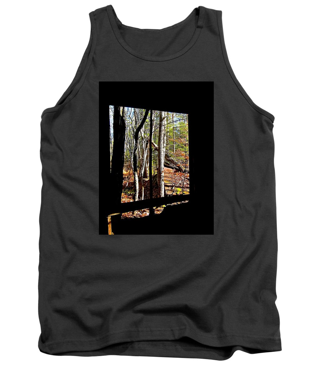 Tank Top featuring the photograph From Inside An Old Barn by Elizabeth Tillar