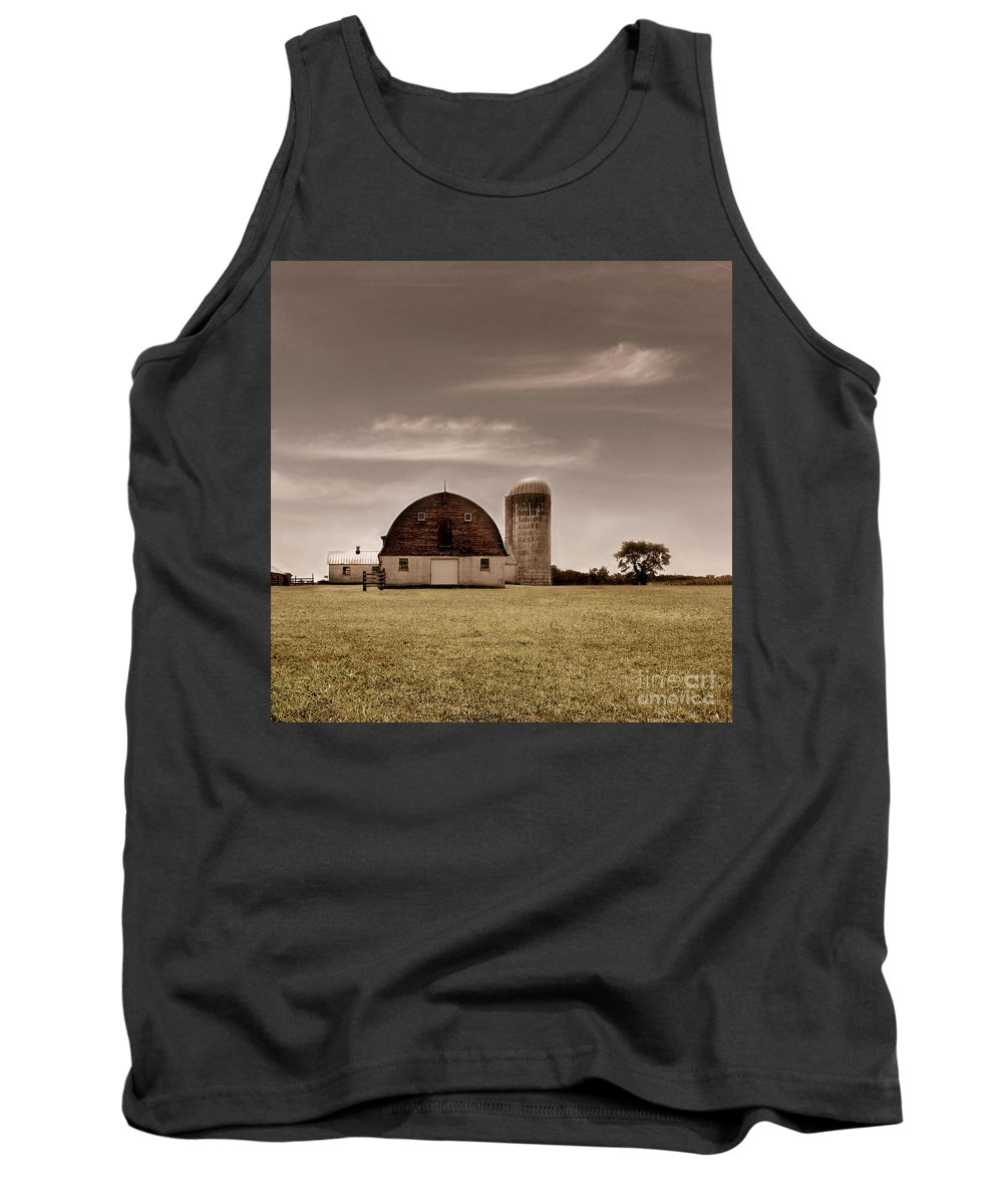 Farm Tank Top featuring the photograph Dry Earth Crumbles Between My Fingers And I Look To The Sky For Rain by Dana DiPasquale