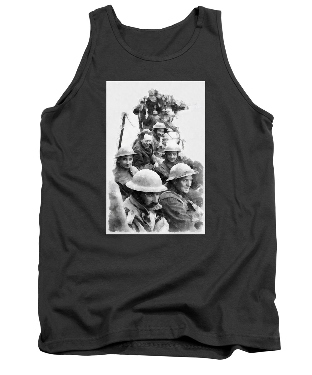 Watercolour Tank Top featuring the painting Dunkirk By John Springfield by John Springfield