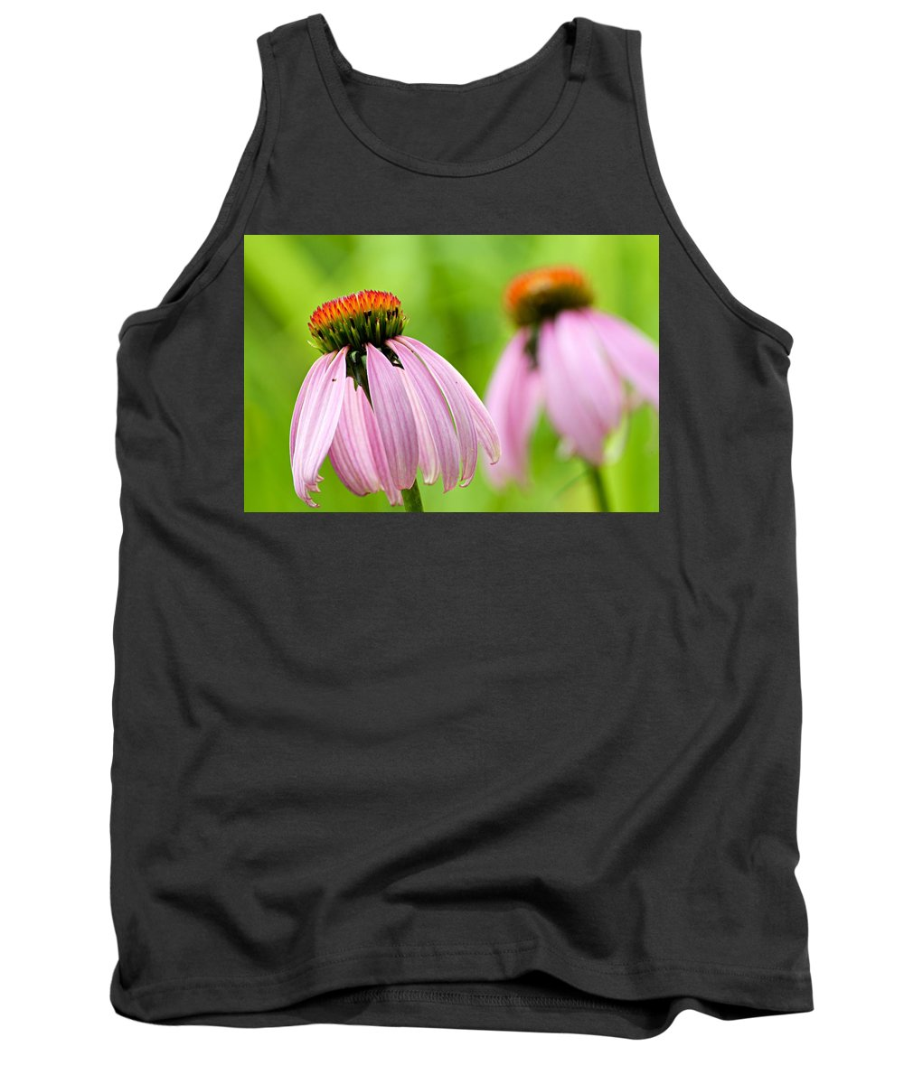 Cone Flowers Tank Top featuring the photograph Duplication by Larry Ricker