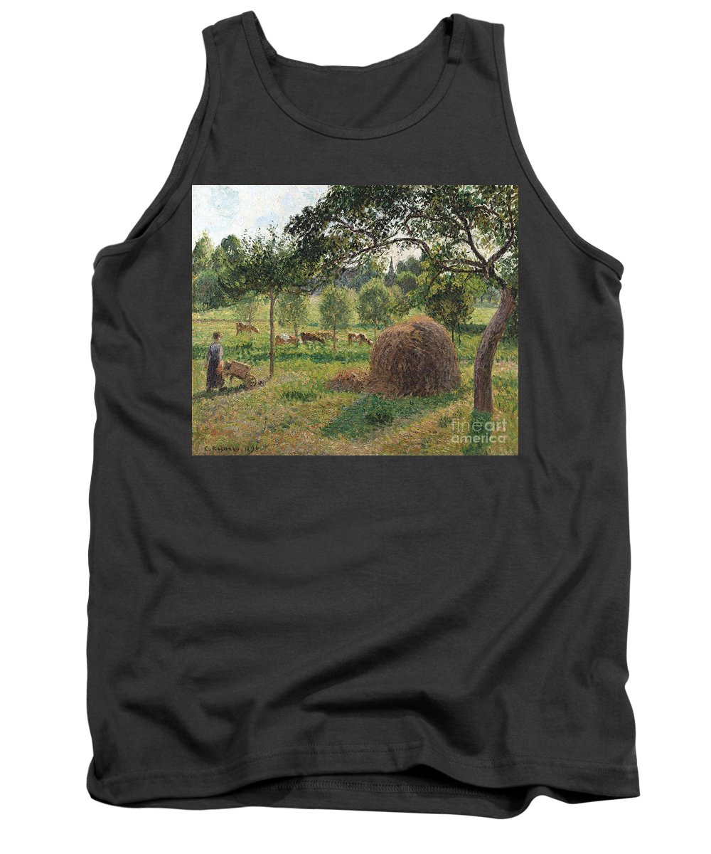 Sunset Framed Prints Tank Top featuring the painting Dusk At Eragny by Camille Pissarro