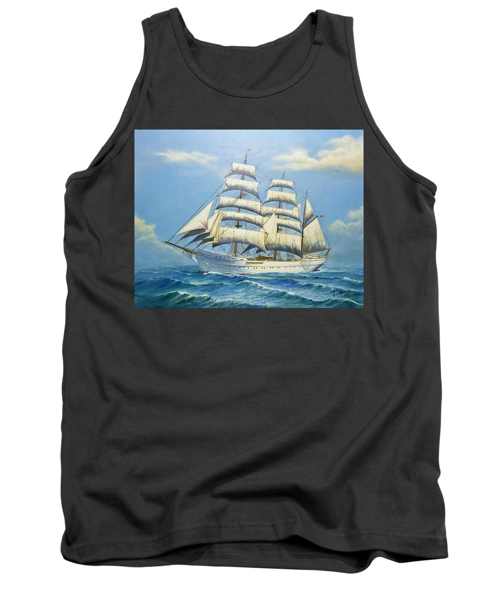 Ships Tank Top featuring the painting Eagle circa 1960 by William H RaVell III