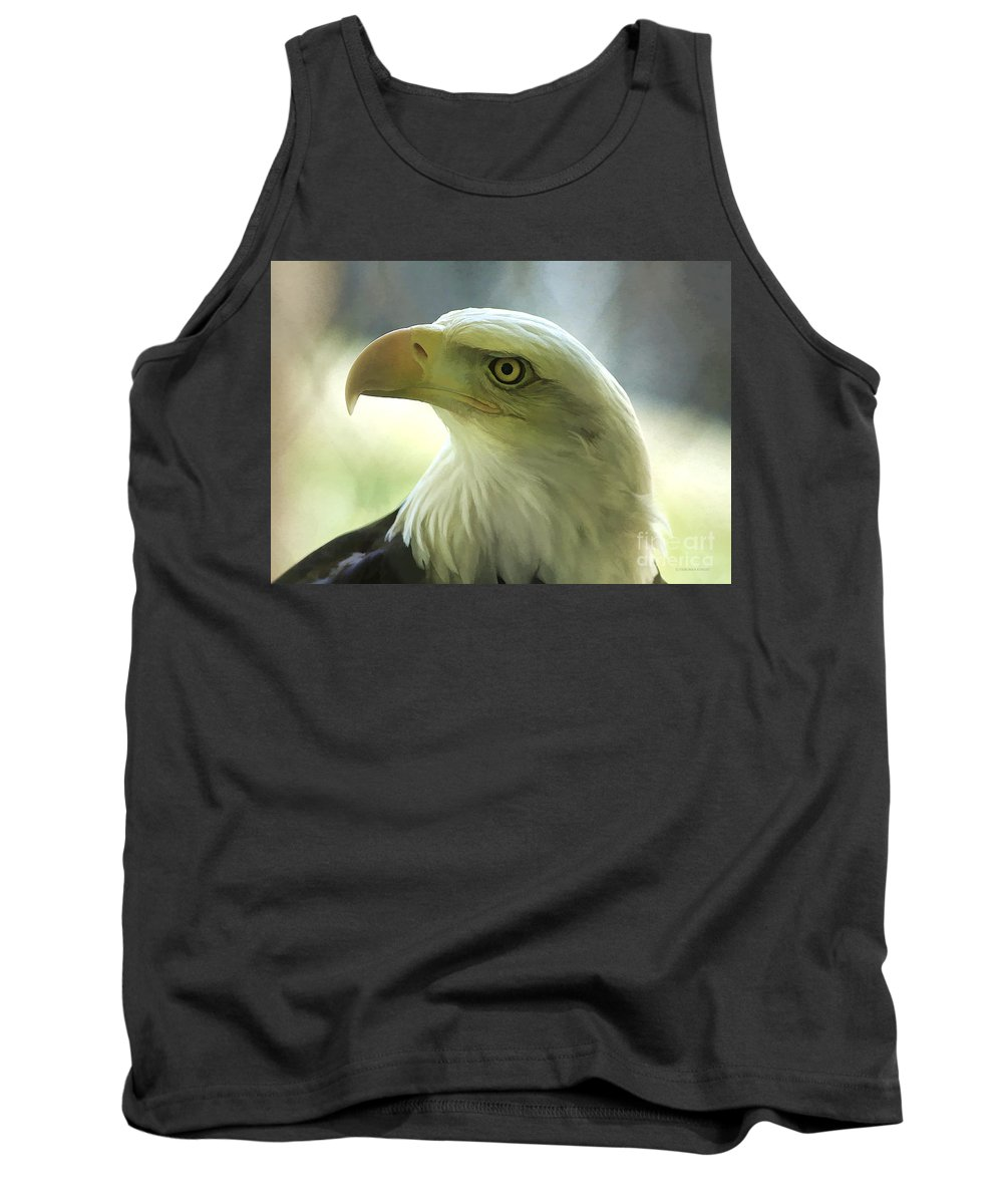 Eagle Tank Top featuring the photograph Eagle Majesty by Deborah Benoit