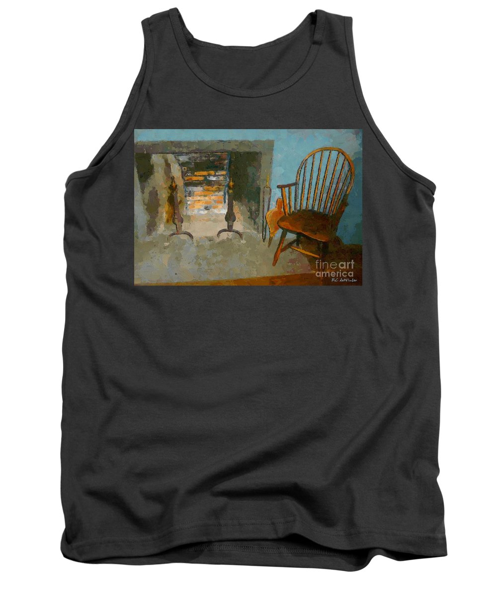 Americana Tank Top featuring the painting Early American Contemporary by RC DeWinter