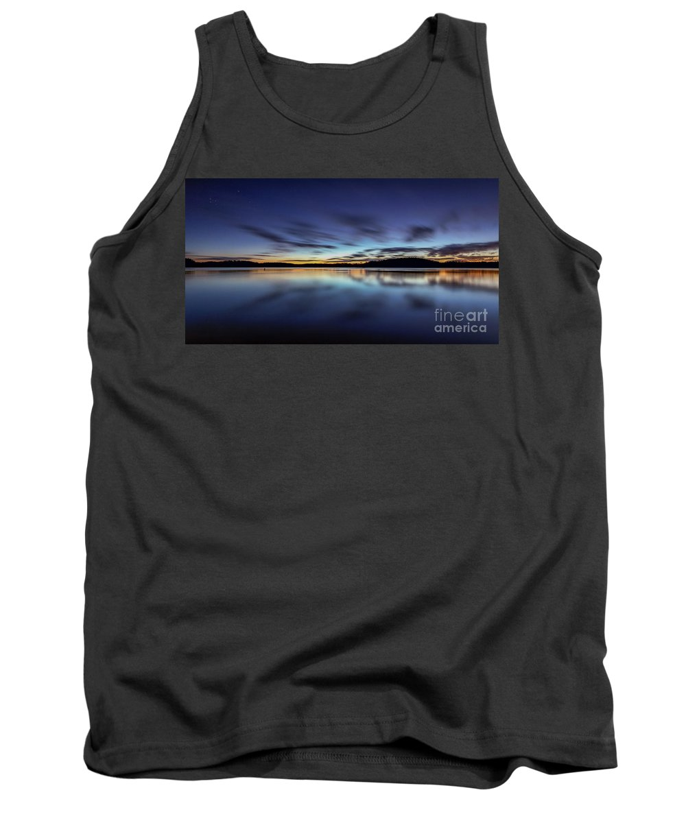 Lake Tank Top featuring the photograph Early Morning On Lake Lanier by Bernd Laeschke