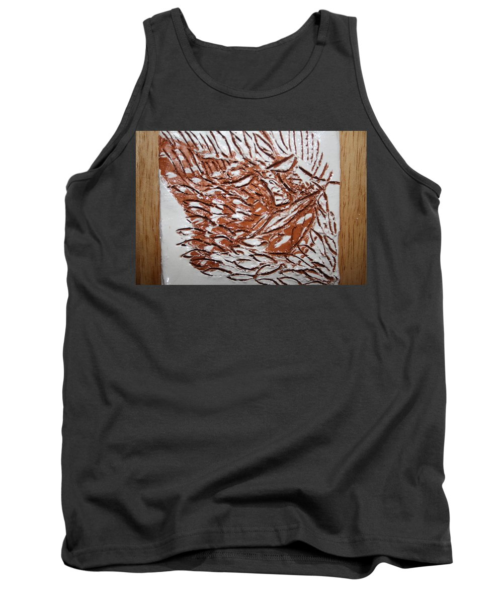 Jesus Tank Top featuring the ceramic art Earth Father - Tile by Gloria Ssali