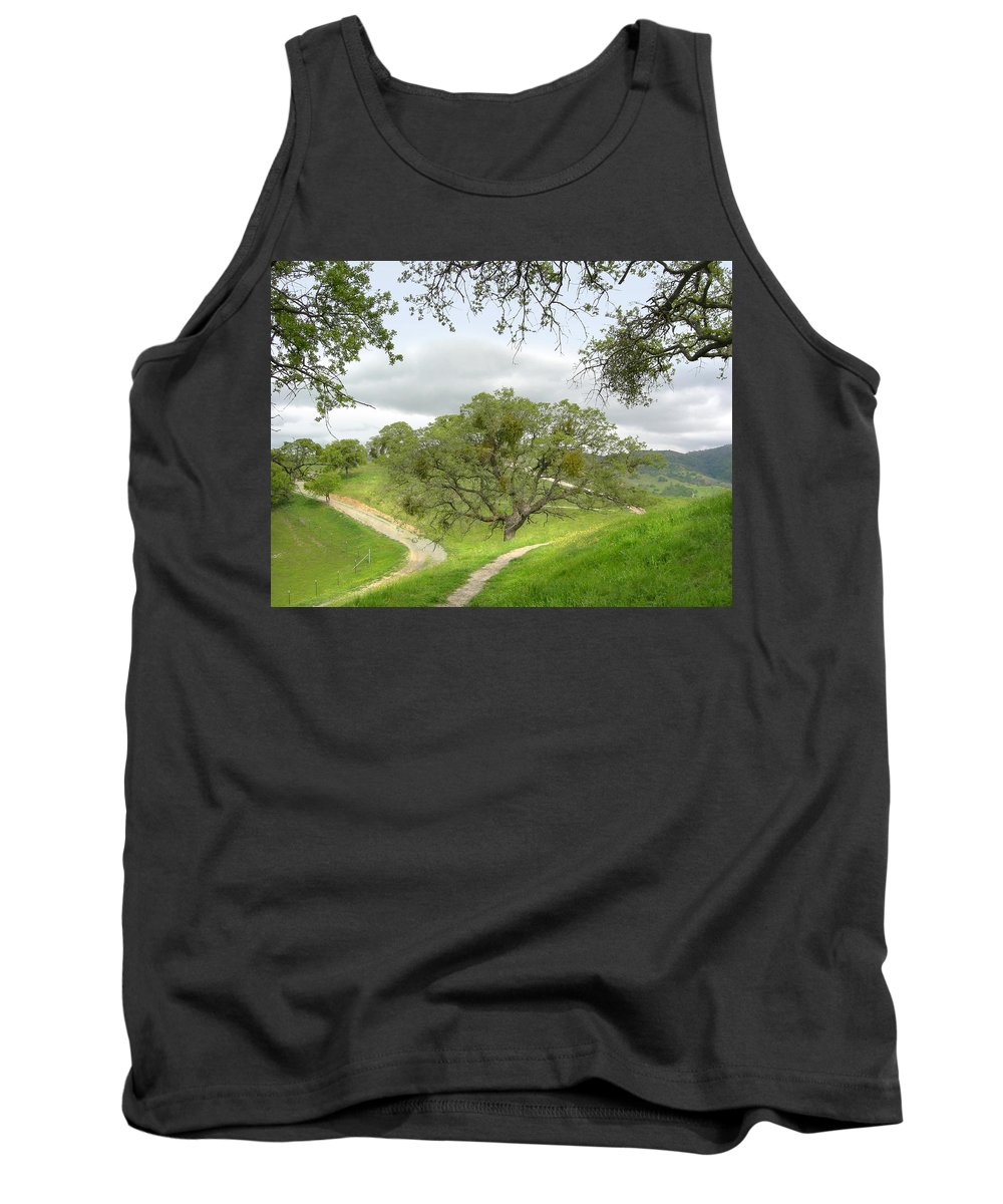 Landscape Tank Top featuring the photograph East Ridge Trail - Spring by Karen W Meyer