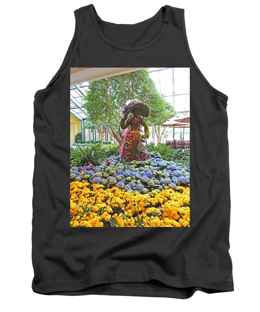 Photographic Print Tank Top featuring the photograph Easter Bunny Topiary by Marian Bell