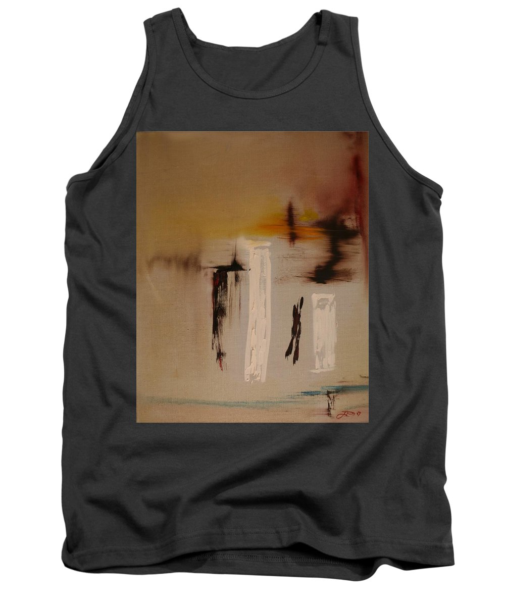 Abstract Tank Top featuring the painting Easy by Jack Diamond