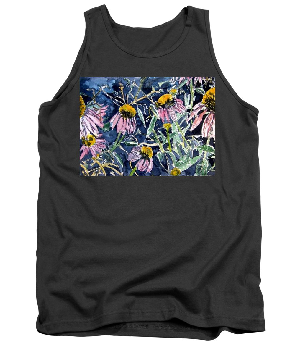 Echinacea Tank Top featuring the painting Echinacea Cone Flower Art by Derek Mccrea