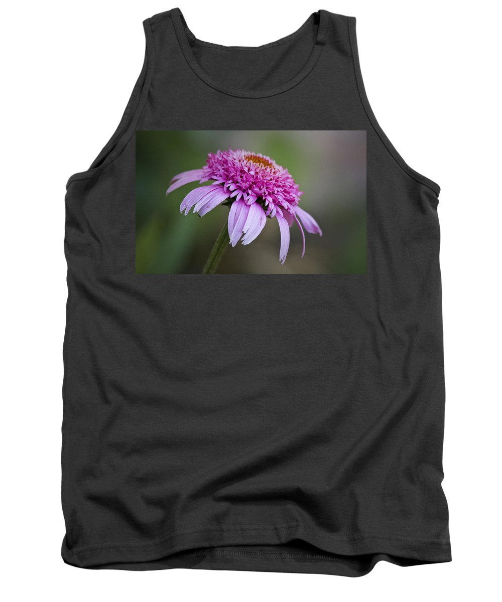Pink Tank Top featuring the photograph Echinacea Pink Double Delight by Teresa Mucha
