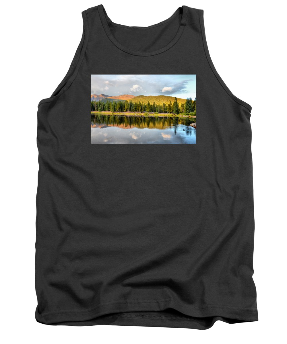 Echo Lake Tank Top featuring the photograph Echo Lake Painterly 1 by Angelina Vick
