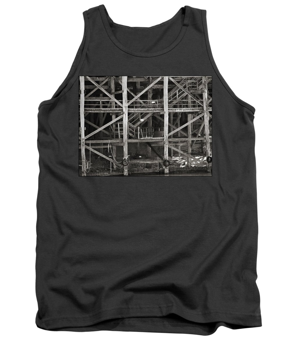 Wharf Tank Top featuring the photograph Echuca Wharf by Kelly Jade King
