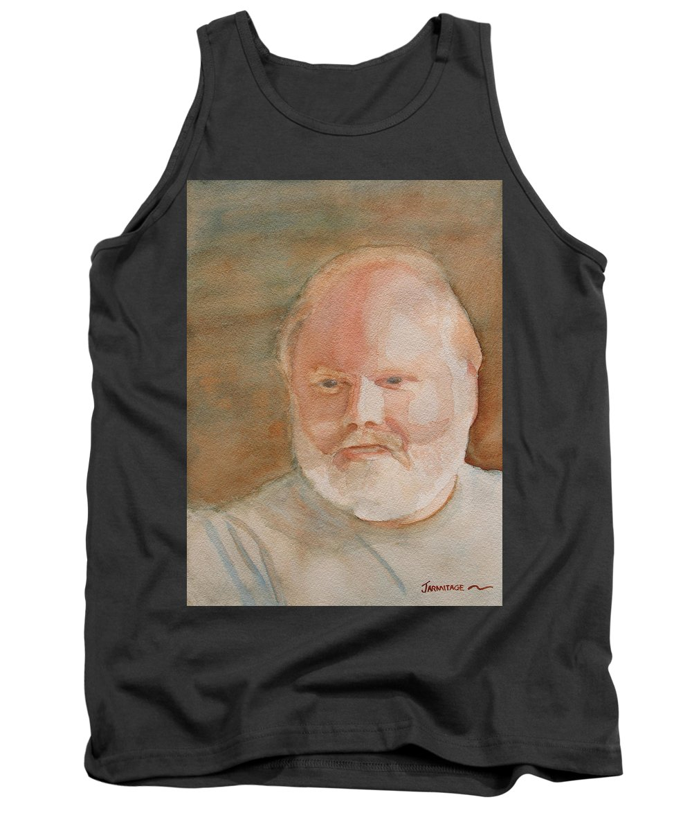 Man Tank Top featuring the painting Ed Turns Forty by Jenny Armitage