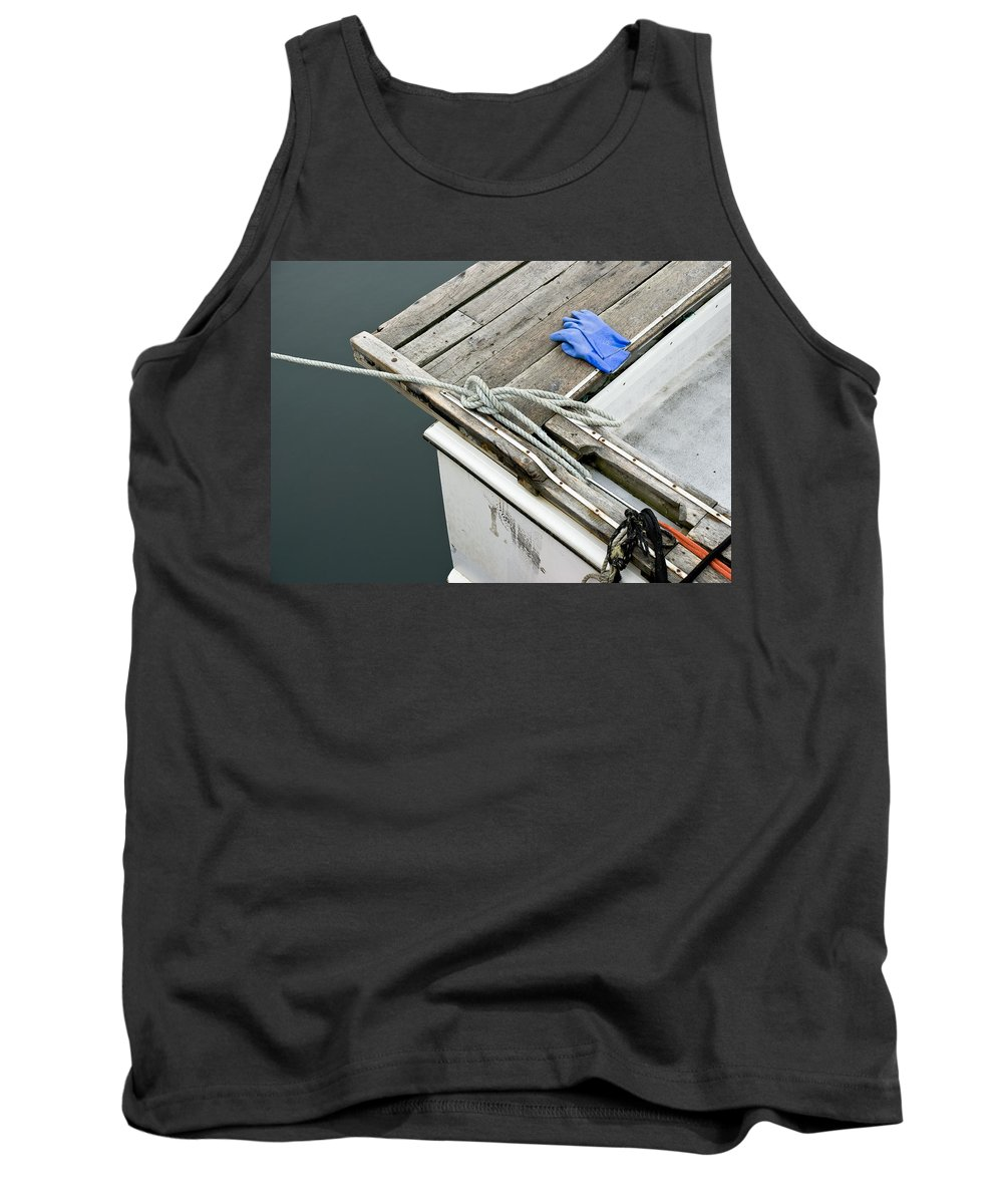 Edgartown Tank Top featuring the photograph Edgartown Fishing Boat by Charles Harden